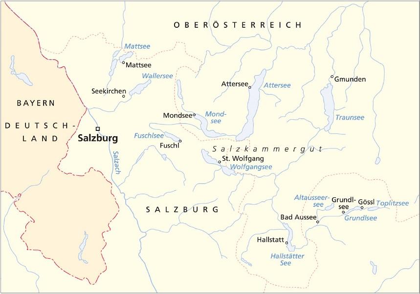 Schiffskarte Salzkammergut