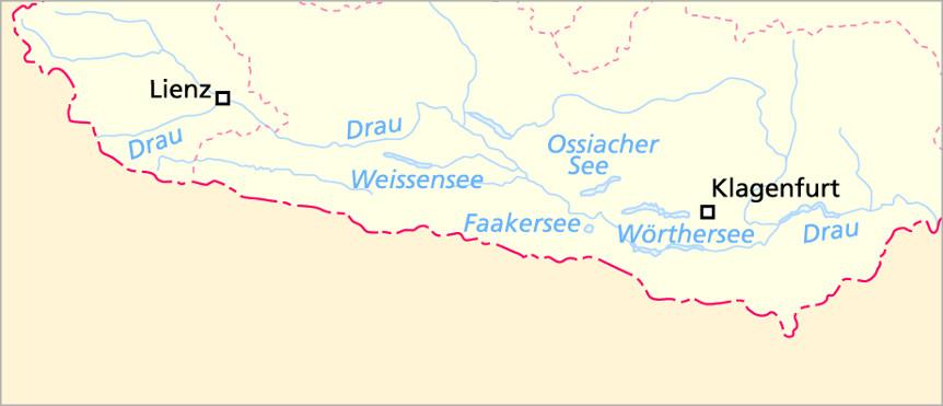 Schiffskarte Südösterreich